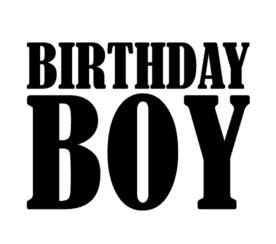 strijkapplicatie birthday boy velours