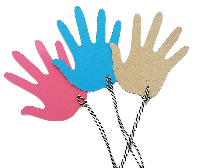 kadolabel handjes set 3 kleuren