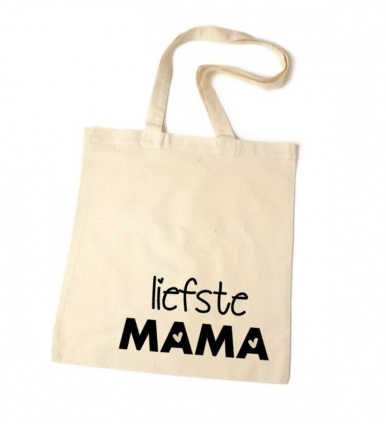 34e53822b0c Katoenen tas met tekst liefste mama