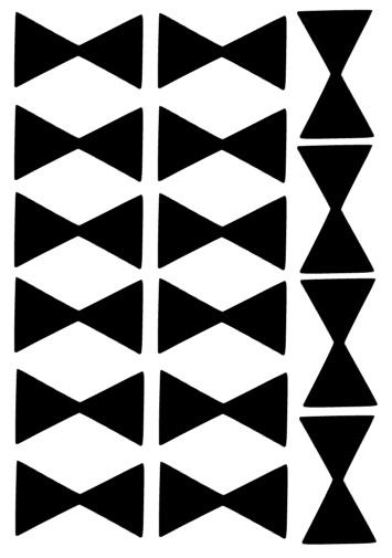 muurstickers strikjes in meerdere kleuren voor harde