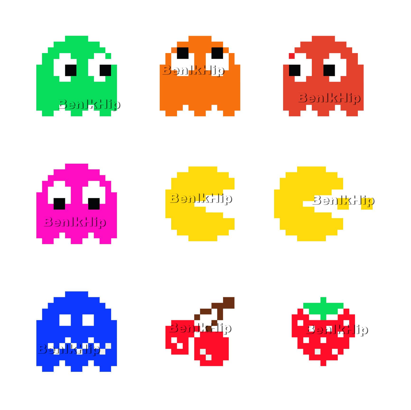 Strijkapplicatie Pac Man Game Over
