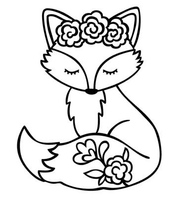 strijkapplicatie vosje velours