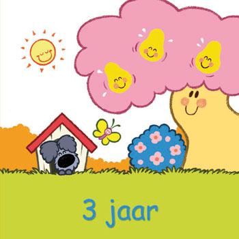 Wenskaartje Woezel En Pip Feliciteren 3de Verjaardag
