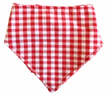 Alimrose Dribble bib red gingham