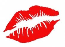 Strijkapplicatie Rode Lippen