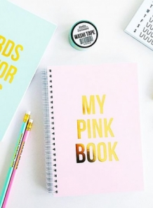 Notebook my pink book studio stationery