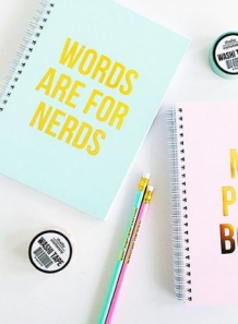 Notebook words are for nerds studio stationery