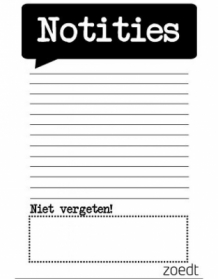 Notitieblokje A6 monochrome Notities