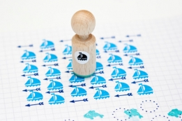 Mini stempel Zeilboot