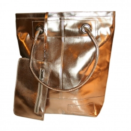 Zebra Trends Natural Bag dames metallic bruin