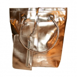 Zebra Trends Natural Bag dames metallic goud