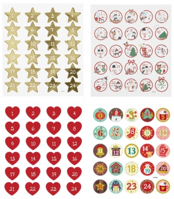 Adventskalender stickers DIY