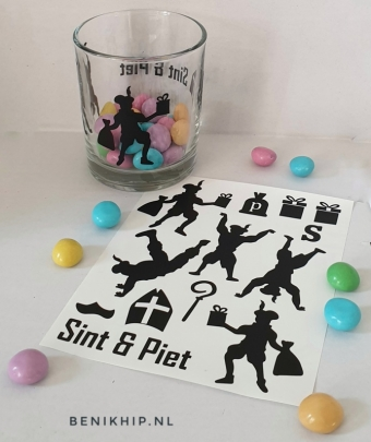 DIY stickers Sinterklaas