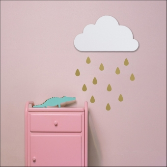 Wandecoratie Wolk wall art wit Dreams