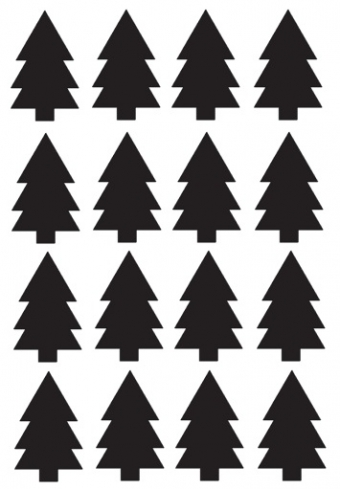 Kerstboom stickers