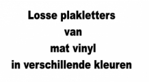 Losse plakletters vinyl stickers