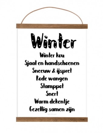 Free printable Winter poster A4
