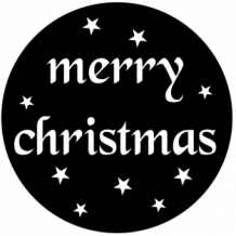 Sticker merry christmas rond