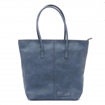 d41da92f869 Natural Bag dames shopper met rits jeans blauw