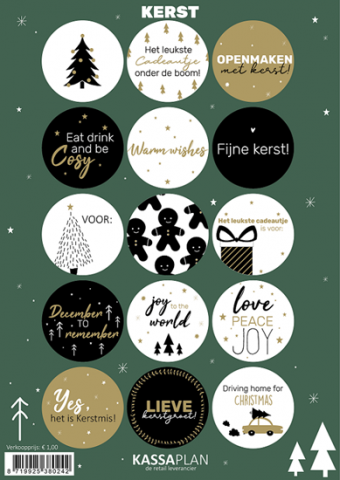 Stickervel A5 Kerstmis