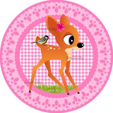 Strijkapplicatie Bambi